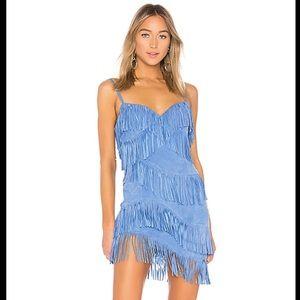 NBD Suede fringe dress